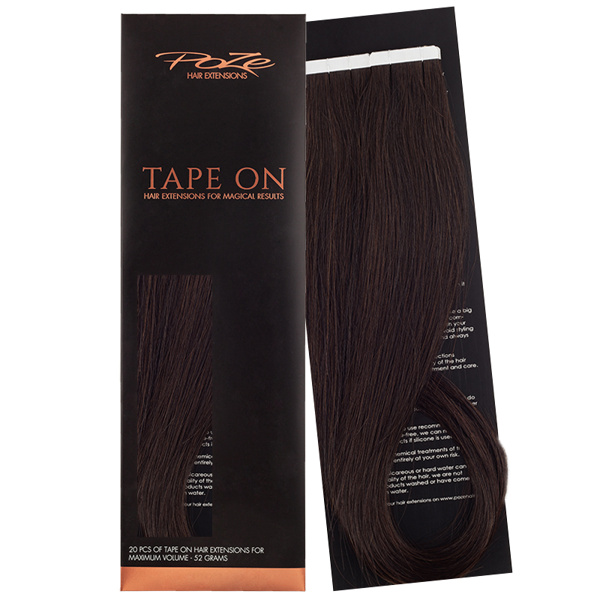Poze Standard Tape On Extensions - 52g Midnight Brown 1B - 50cm