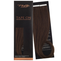 Poze Standard Tape On Extensions - 52g Chocolate Brown 4B - 40cm