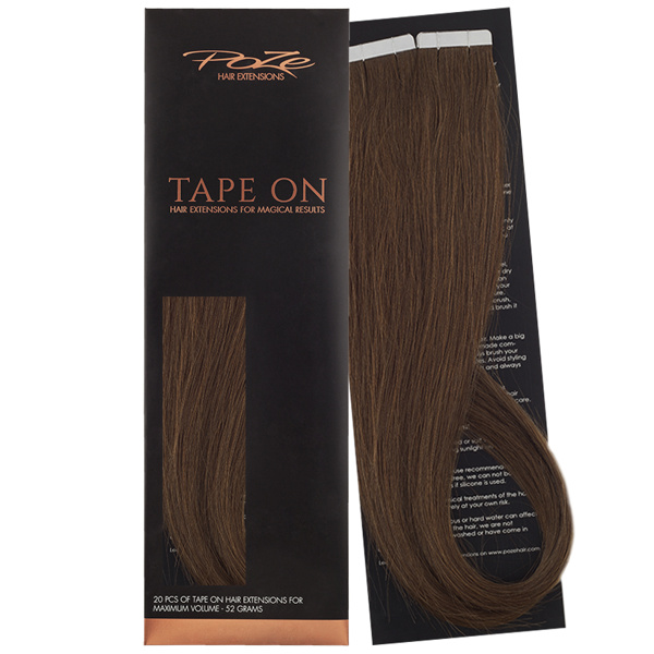 Poze Standard Tape On Extensions - 52g Lovely Brown 6B - 40cm