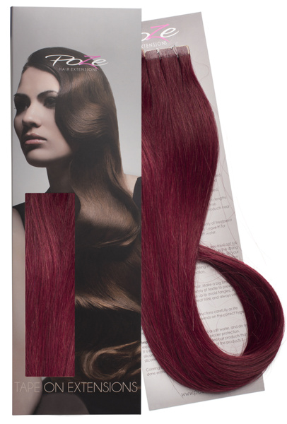 Poze Standard Tape On Extensions - 52g Red Passion 5RV - 50cm