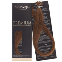 Poze Premium Keratin Extensions Golden Honey 8BG - 50cm
