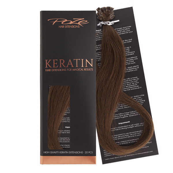 Poze Standard Keratin Extensions Lovely Brown 6B - 50cm