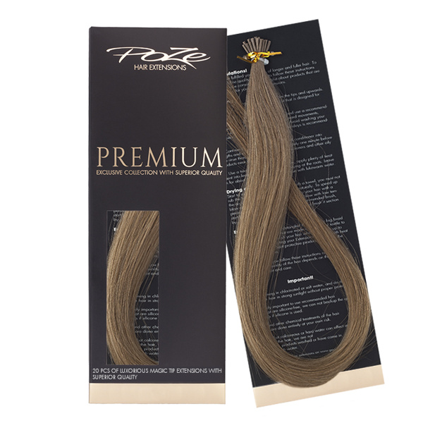 Poze Premium Magic Tip Extensions Light Ash Brown 8A - 50cm