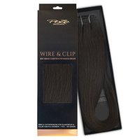 Poze Standard Äkta Löshår Wire & Go - 100g Midnight Brown 1B - 50cm