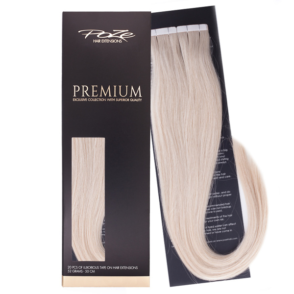 Poze Premium Tape On Extensions - 52g Pure Blonde 12A - 50cm