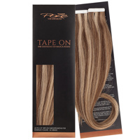 Poze Standard Tape On Extensions - 52g Sandy Brown Mix 10B/7BN - 60cm