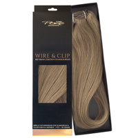 Poze Standard Äkta Löshår Wire & Clip - 130g Light Ash Brown 8A - 50cm