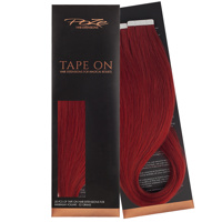 Poze Standard Tape On Extensions - 52g Intense Red 7R - 50cm